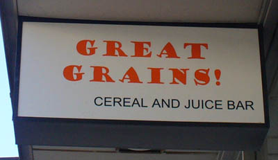 Great Grains Cereal Bar in Salt Lake City, Utah