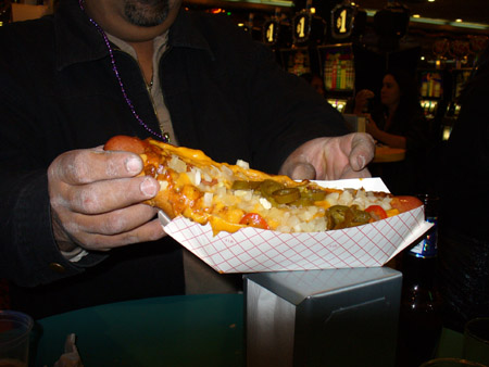 Foot Long Hot Dogs at Mermaids Casino
