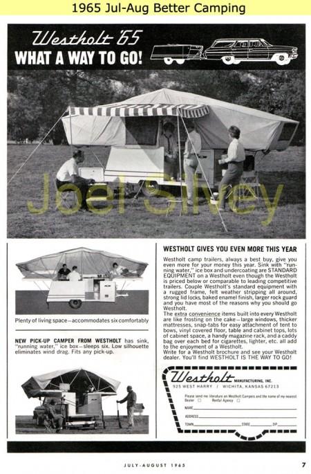 1965 Westholtz Advertisement