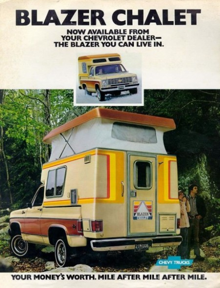 1976 Chevy Blazer Chalet Advertisement