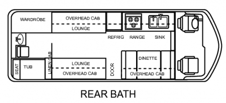 1978 GMC Royale Floor Plan Rear Bath from Starling Travel
