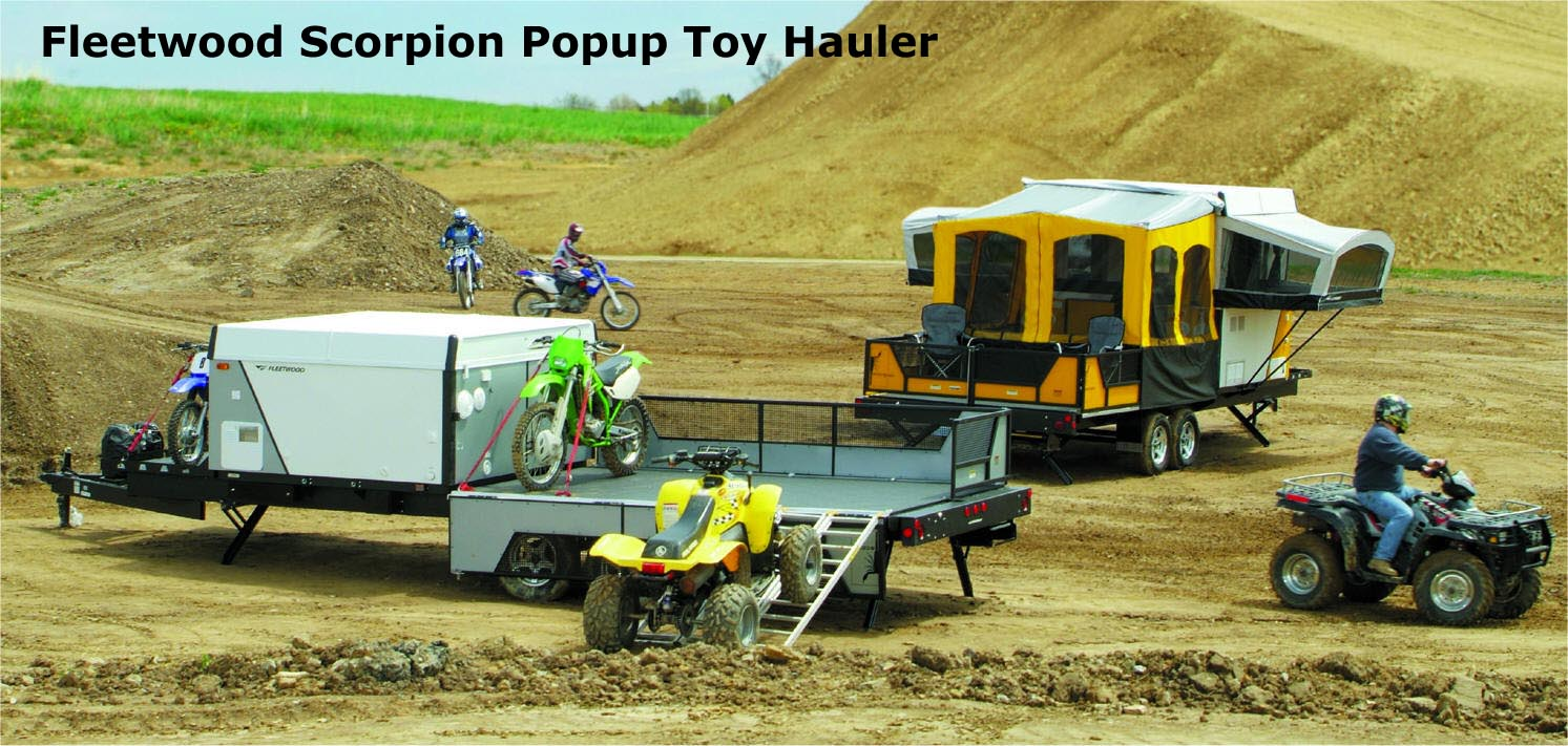 2006 Fleetwood Scorpion Toy Hauler Brochure from Starling Travel & Starling Travel » The 2006 Fleetwood Scorpion Toy Hauler: A Tent ...
