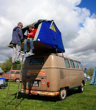Air Camping on a VW Bus from Starling Travel