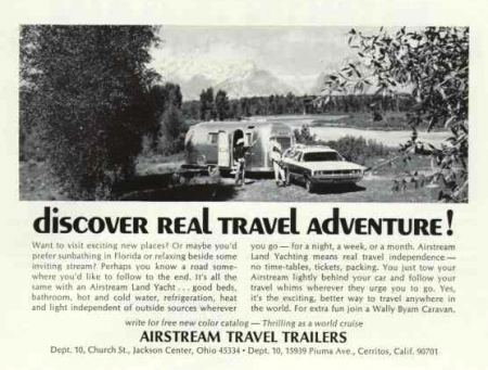 Airstream Ad from National Geographic 04-1970 from Starling Travel