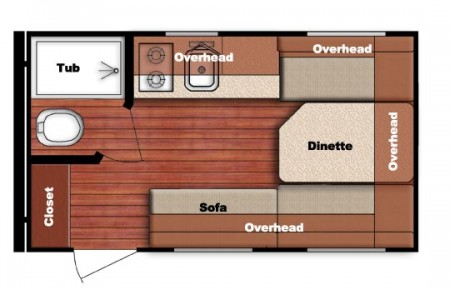 Amerilite 14RBC Floorplan from Starling Travel