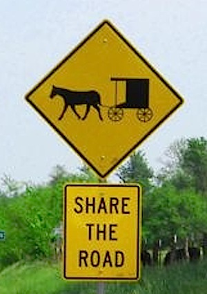 Amish Yield Sign