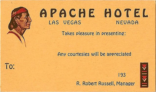 APACHE HOTEL LAS VEGAS NEVADA by VEGASKID1957 from Flickr