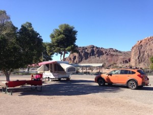 Camping in the Popup at Buckskin Mtn State Park in AZ from Starling Travel