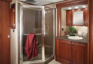 Carriage Cameo Fifth Wheel Beautiful Bathroom