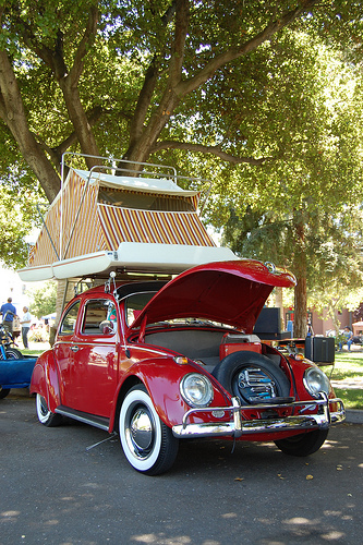 Starling Travel 187 Vw Beetles With Cartop Tent Campers
