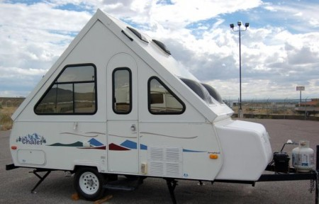 if you like the idea of a hard sided travel trailer but want to be able to store your camper in a garage an a frame camper might be your best bet