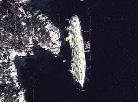 Costa Concordia Sattelite Image