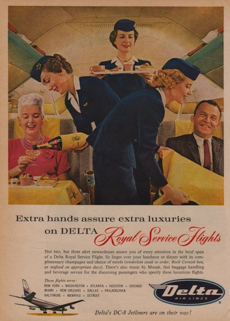 Delta Royal Service Flights: click to see full size