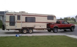 Fifth Wheel Camper and Truck
