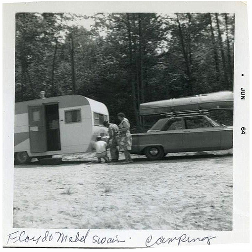 Floyd & Mabel Swain Camping 1964 by Cheryl R. Gonzalez from Flickr