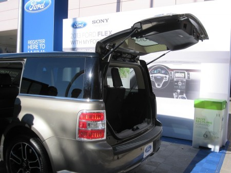 Ford Flex 2013: tailgate would make a great camp kitchen from Starling Travel