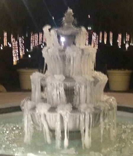 Frozen Water Fountain in Las Vegas 01-16-2013