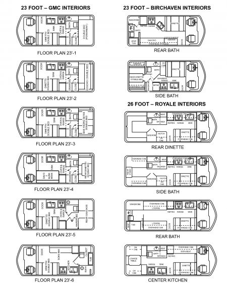 GMC floor plans from Starling Travel