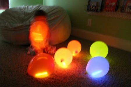 Glow sticks in balloons from Starling Travel