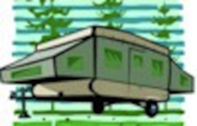 Tent Trailer Illustration. from Starling Travel