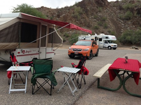 Homemade Awning on a Jayco Tent Trailer from Starling Travel
