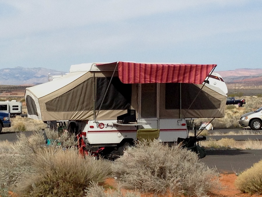 Starling Travel 187 My Homemade Awning On A Jayco Tent Trailer