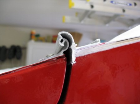 Hurricane Hinge on a Teardrop Trailer from Starling Travel