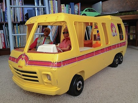 Barbie and Ken love their GMC Eleganza II from Starling Travel