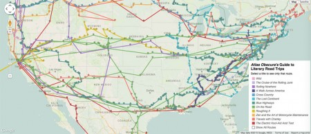 Interactive Literary Road Trip Map from Starling Travel