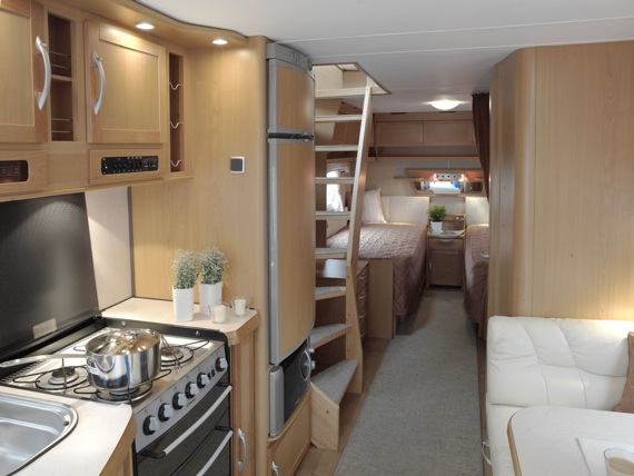 Starling travel the kabe royal tower a camper with a for Loft rv