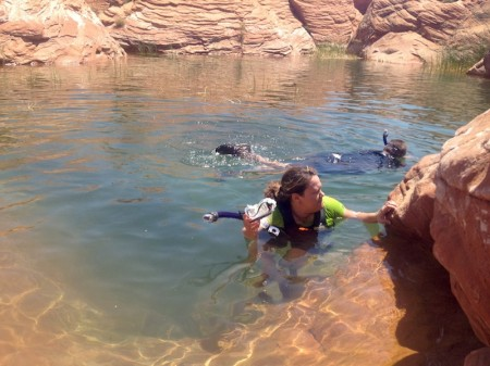 Kayaking at Sand Hollow UT 06-16-12