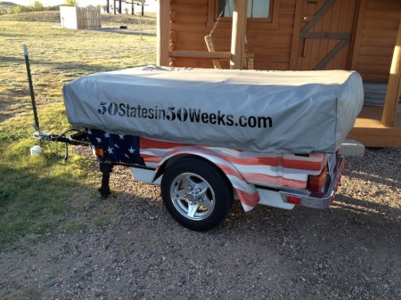 Kevin and Sherri Parsons Motorcycle Tent Trailer