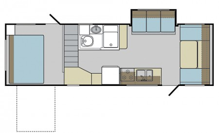 Keystone Outback Loft floorplan from Starling Travel