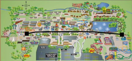 Lagoon Park Map Skyride Highlighted from Starling Travel