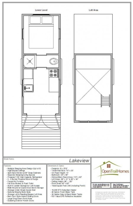 Lakeview Floorplan from Open Trails Homes on Starling Travel