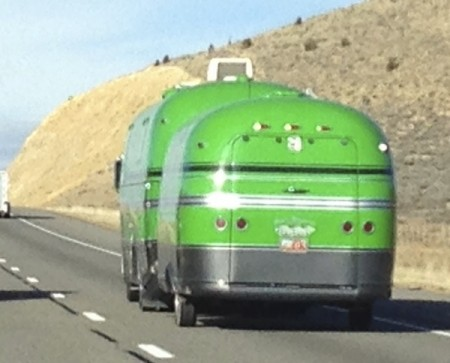 Lime Green Motorhome and Toy Hauler from Starling Travel