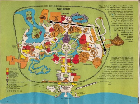 Magic Kingdom Map Skyway Highlighted from Starling Travel
