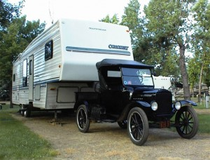 Model T and a Fifth Wheel