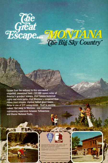 The Great Escape Montana Big Sky Country National Geographic April 1970 from Starling Travel