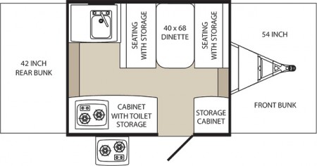 Palomino 280LTD Floorplan from Starling Fitness