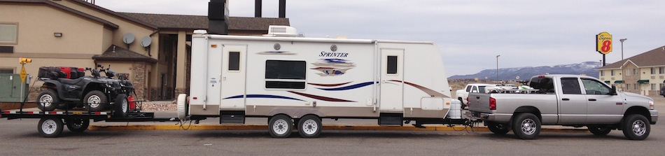 Tandem Towing Travel Trailer