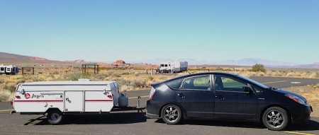 Prius Towing a Jayco Tent Trailer from Starling Travel