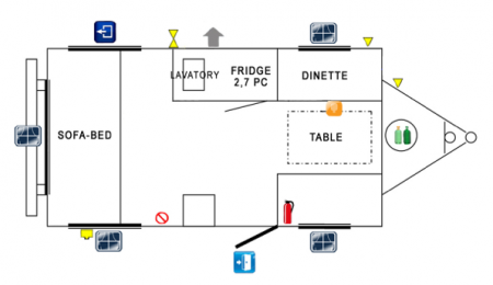 Prolite Mini Floor Plan from Starling Travel