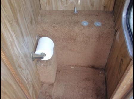 Redneck Popup Camper: Porta Potty closet