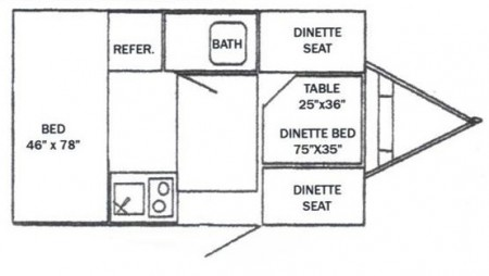 Riverside Retro RV 155 floor plan
