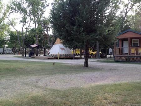 Salina KS KOA teepee and cabin