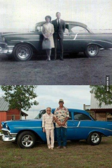 The Same Couple and Car After Fifty Years from Starling Travel