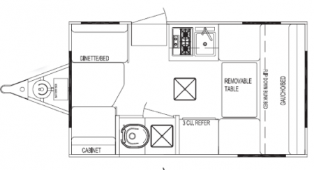 Serro Scotty Hilander Floorplan from Starling Travel