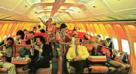 Seventies Airlines had tons of room and big seats