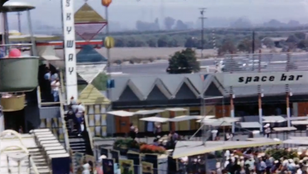 Skyway and Space Bar in Tomorrowland Disneyland 1956 from Starling Travel